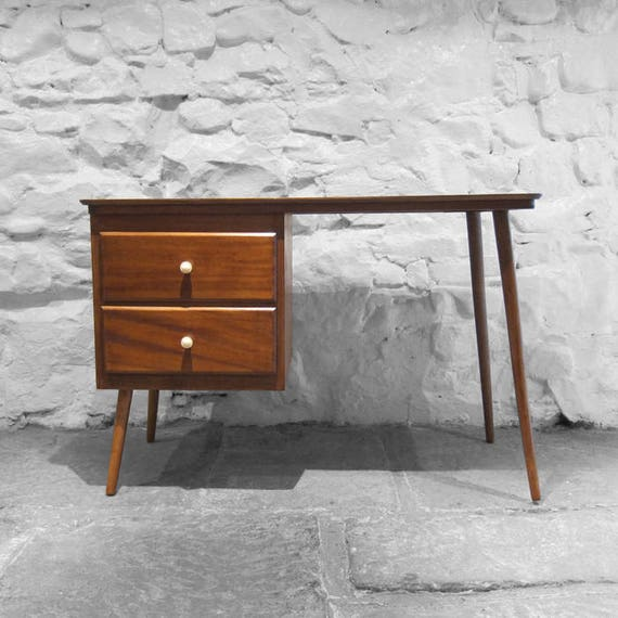 Mid Century Vintage Desk Sewing Table 1950s Modernist