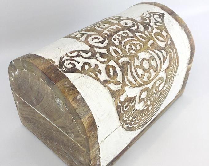 Wooden Jewelry Box - Hasma Hand - Earring Box