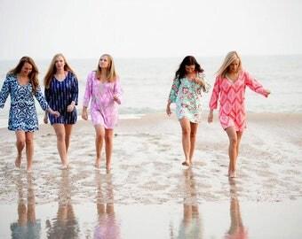Ladies swimsuit coverups / Ladies stylish tunics / Ladies personalized - monogrammable swimsuit coverups