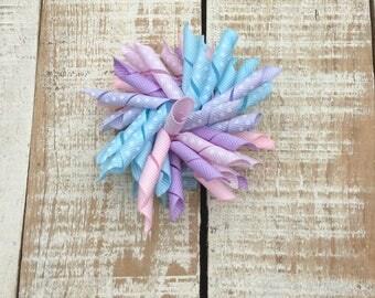Pastel Polka dot Korker Bow - Korker hairbows