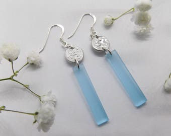 Ophelia rectangle earrings