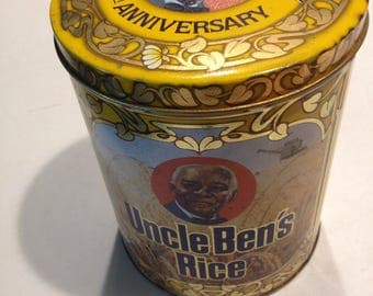 Vintage, LIMITED EDITION, Uncle Vens rice tin