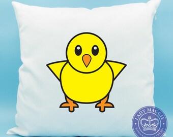 Standing Yellow Baby Chick Emoji Pillow - Standing Chick Emoji Front Facing Baby Chick Emoji Pillow - Baby Chicken Emoji Cushion Baby Chick
