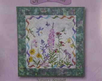 Summer Sale- Spring is in the Air~Nature's Bouquet McKenna Ryan Applique Quilt Pattern Block,Fast Shipping PT408