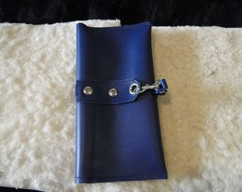 Door card - paper - 100% leather checkbook cover and hand-made.