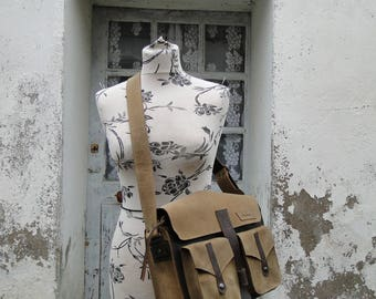 """Bag """"travel"""" 100% leather and hand made Brown"""