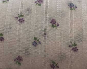 Purple floral Peter Pan Co fabric, 7.5 yards