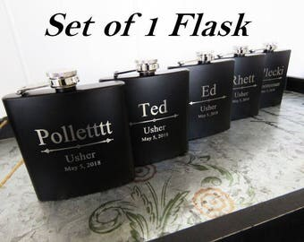 Usher Wedding Gift, Will You Be My Usher?, Personalized Wedding Flask, Wedding Party Invite, Usher Proposal, Will You Be Our Usher, Asking