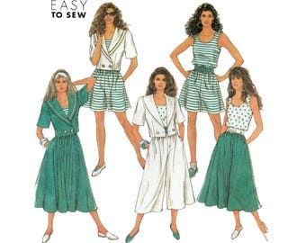 Culottes, Skirt, Tank Top and Jacket, Women's Sewing Pattern, Size 6-8-10-12-14  UNCUT Simplicity 7336
