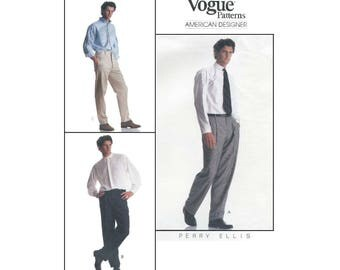 Men's Pants Sewing Pattern, American Designer Perry Ellis, Waist Size 42-44 UNCUT Vogue 2209