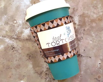 Custom Drink Sleeve - Adjustable - Coffee Insulator - Coffee Tea Sleeve  with Business Card Holder, Business Gift