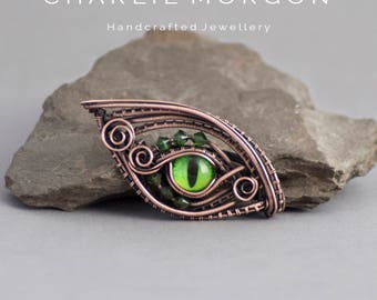 Green Dragon Eye Pendant - Dragon Eye Jewellery, Amulet Pendant, Evil Eye Necklace, Mother Of Dragons, Unique Gift For Her, Dragon Talisman