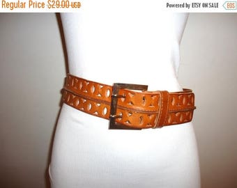 The SALE Is On SALE Must See! Really Nice Cognac Leather Belt, Sz. M