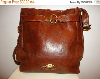 The SALE Is On SALE Beautiful Vintage Cognac Leather Shoulder Bag