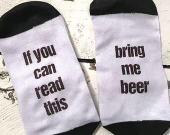 Beer Socks Ladies Socks If you can read this