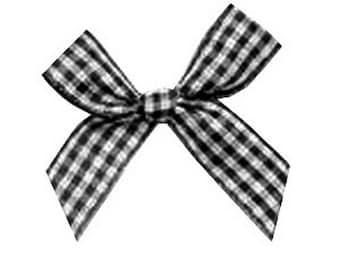4 4 tiles cm black and white gingham bows