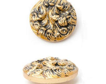 Large button 38 mm antique gold