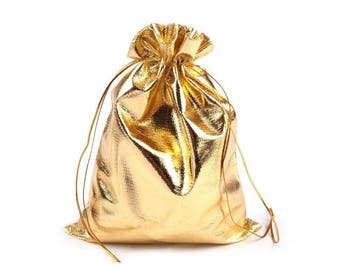 3 metal bag purse gold 16.5 x 20 cm