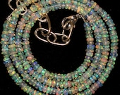 50%Off    18.4 '' AAA smooth roundel shape multi wello fire Ethiopian opal beads strands good quality wholesale price. 0124