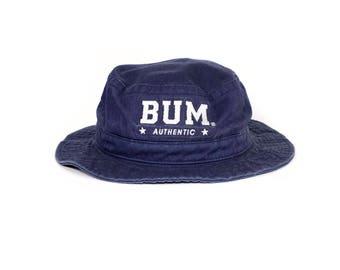 90s BUM EQUIPMENT indigo bucket hat - vintage