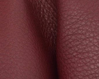 "Romantic Ruby Red Leather New Zealand Deer Hide 12"" x 12"" Pre-cut 3-4 ounces-22  DE-66146 (Sec. 5,Shelf 3,B)"