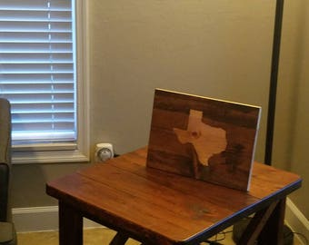 Rustic State Sign