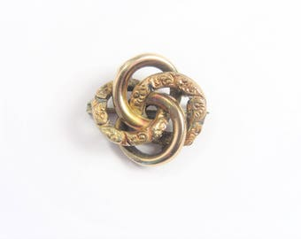 Tiny Antique Victorian Love Knot Pin Vintage Estate Jewelry
