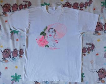 Vintage 80's Las Vegas T shirt, size Medium 1986 neon souvenir Soft and Thin