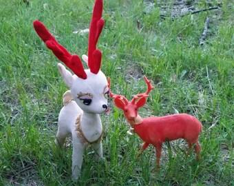 2 VTG Christmas Deer