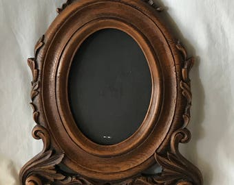 M007 Faux wood picture oval picture frame table top 8x10, 2lbs