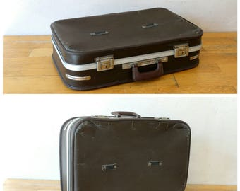 Brown Suitcase, Brown Luggage, Train Case, Valise, Luggage Decor, Old Luggage, Suitcase Table, Travel Trunk, Brown Luggage Bag, Old Trunk,