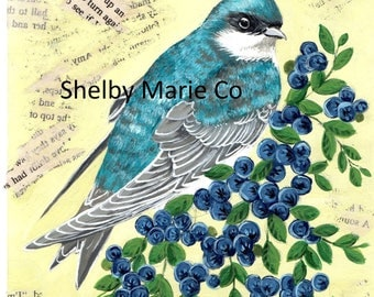 Digital Download for Original Painting of Tree Swallow