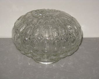 Clear glass light fixture globe