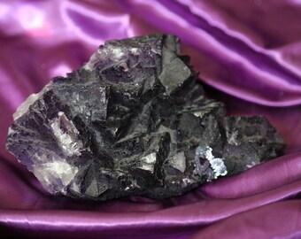 Extra large deep purple fluorite