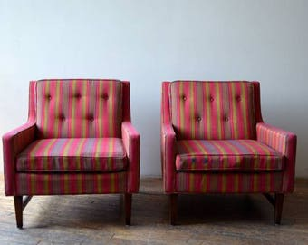 Pair of Flair INC Mid Century Modern Lounge Chairs