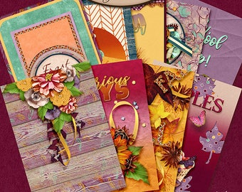 Dashboard A5, Travelers Notebook, Filofax, Daily Planner: Autumn Joys A
