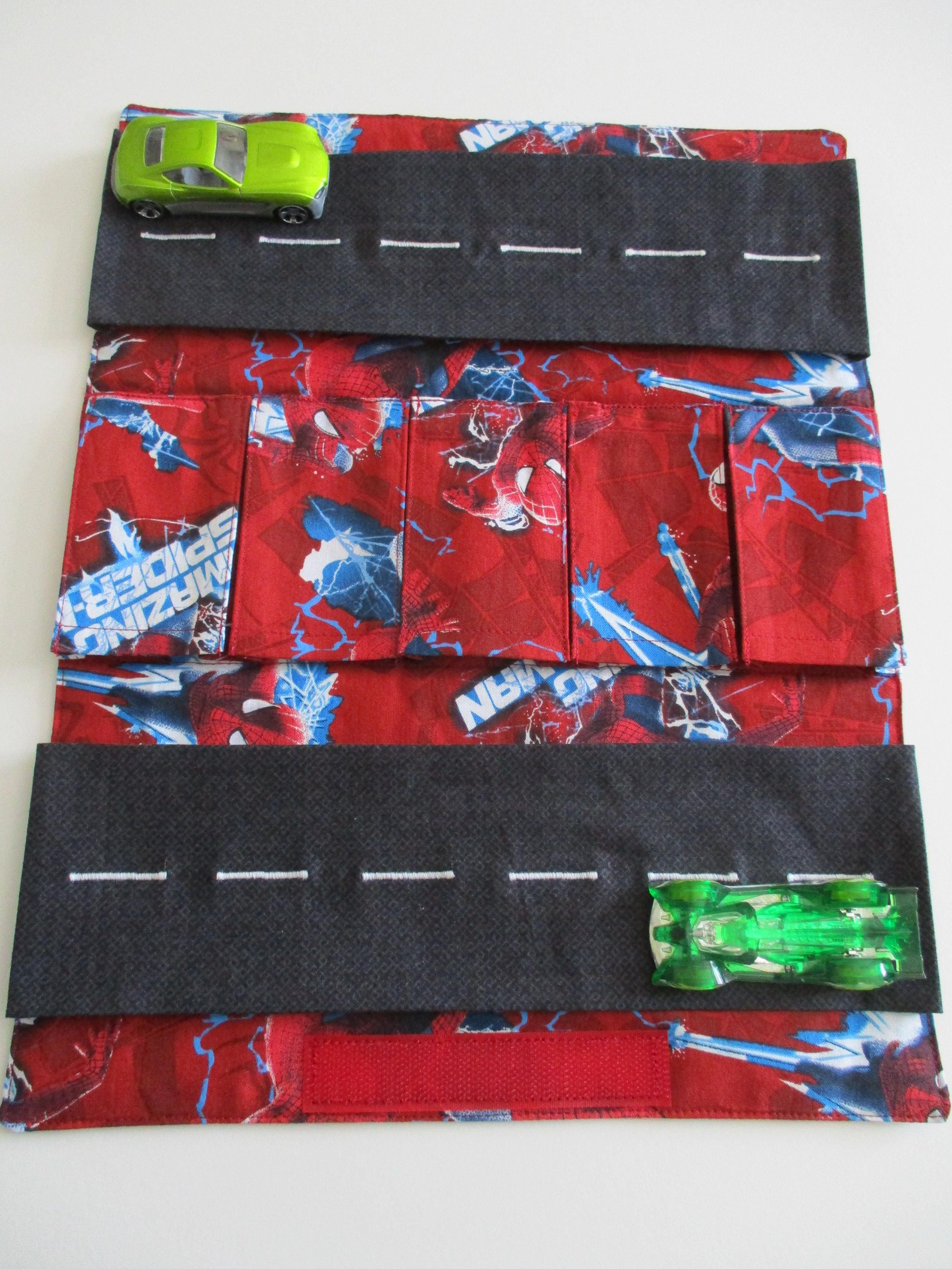 Fabric Roads For Toy Cars : Toy car carrier with road