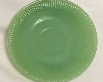 """Fire King Jadeite Jane Ray Saucer Plate 5.75"""" Jadite Anchor Hocking Replacement"""