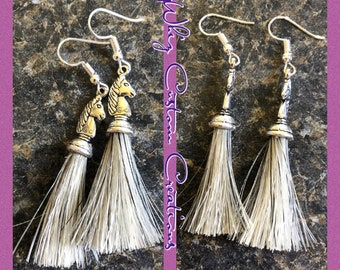Shufly horse hair earrings