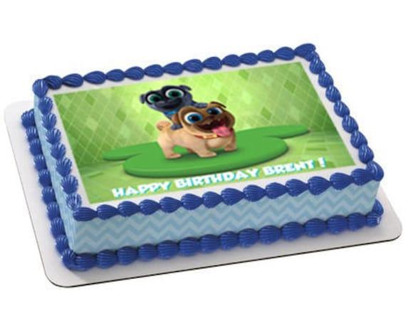 Puppy dog pals edible cake topperPuppy dog pals cupcake