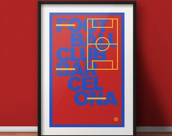 "Football Club Barcelona - 11x17"", 18x24"", 24x36"" Print"