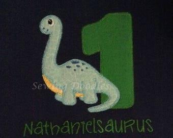Dinosaur First Birthday Shirt
