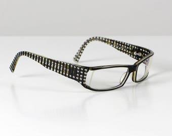 JF Rey Vintage glasses, spectacle frame, vintage eyeglasses, vintage spectacles, vintage specs, black white specs