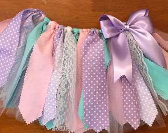 Pink, Lavender, and Aqua Scrap Fabric Tutu