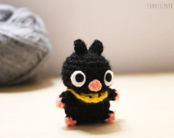 Super cute Chibi P-chan or Ryoga amigurumi doll! character from Ranma 1/2 available as keychain too!