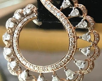 Designer Diamond earrings Rose Gold Diamond Earrings