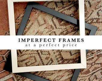 Add an imperfect frame - Classic mat style - Black, White, Gold or White Maple