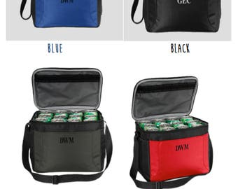 Monogrammed 12 pack beer cooler! Perfect Groomsman gift!