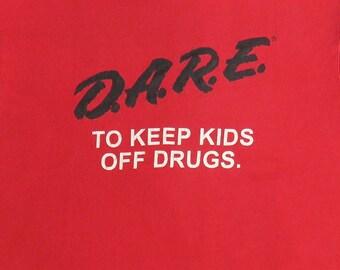 80's Vintage T Shirt Dare Kids Off Drugs