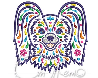 MACHINE EMBROIDERY DESIGN - Calavera papillon